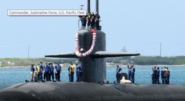 米海軍の原子力潜水艦「オクラホマシティ」[米海軍ホームページ]