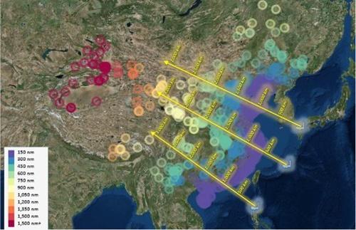 米シンクタンク「戦略予算評価センター(CSBA)」が5月に提案した米国の中距離ミサイル配備概念図。日本九州、沖縄、フィリピン・ルソン島から中国の主な軍事施設との距離を表示した。中国宇宙施設および衛星攻撃施設は最も遠く内陸中心に位置している。[写真 CSBA報告書]
