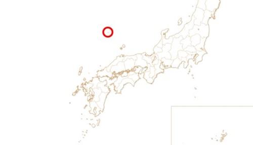 2020東京オリンピック組織委員会のウェブサイトに掲載された日本全域地図に独島と推定される位置に小さい点(赤い丸)が日本の領土と表記されている。[東京オリンピック組織委員会ウェブサイト キャプチャー]