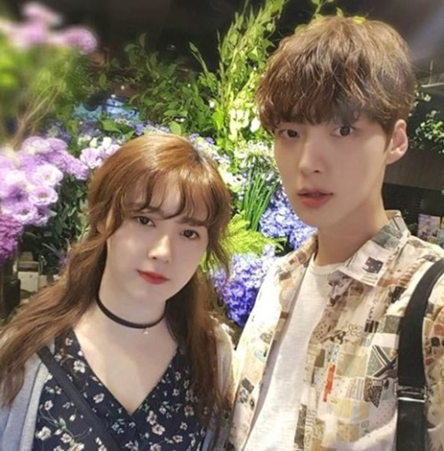 女優ク・ヘソン(左)と俳優アン・ジェヒョン[写真 アン・ジェヒョンのインスタグラム]