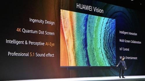 ファーウェイが19日に独ミュンヘンで公開した新製品テレビ「Huawei Vision」
