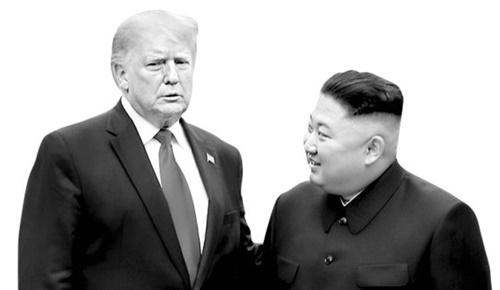 米国のトランプ大統領と北朝鮮の金正恩国務委員長 [中央フォト]