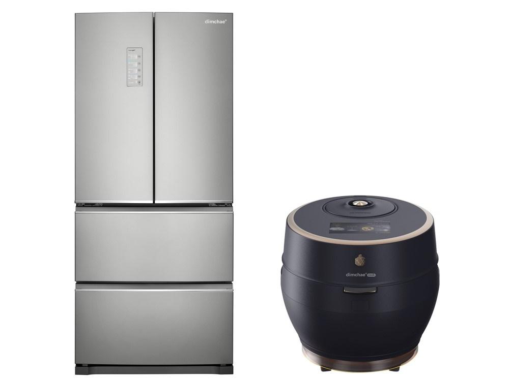 2020年型ディムチェ・キムチ冷蔵庫(左)とIH圧力炊飯器ディムチェ・クック糖質低減30(右)