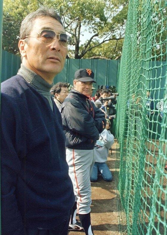 金田正一氏(左)と長嶋茂雄元読売ジャイアンツ監督