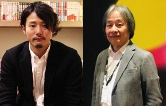 映画『新聞記者』の演出を手掛けた藤井道人監督(左)、プロデューサーの河村光庸さん