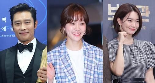 韓国の人気脚本家ノ・ヒギョンの新作ドラマ『HERE』への出演を確定させた(左から)イ・ビョンホン、ハン・ジミン、シン・ミナ。