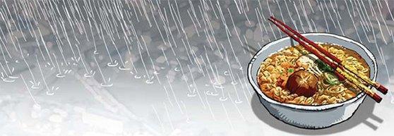 【グローバルアイ】日本台風と時ならぬラーメン論争