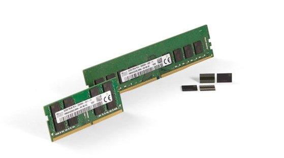 SKハイニックスが開発した第3世代(1z)10ナノ級16Gb DDR4 RAM [写真 SKハイニックス]