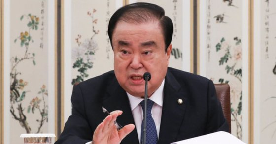 文喜相(ムン・ヒサン)国会議長 イム・ヒョンドン記者