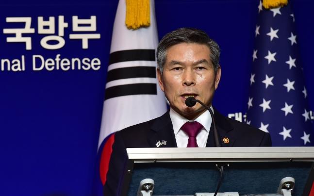 鄭景斗(チョン・ギョンドゥ)韓国国防部長官 [写真 共同取材団]