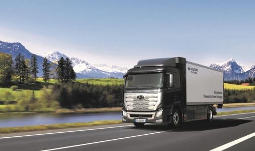 現代車の燃料電池大型トラック[現代車提供]
