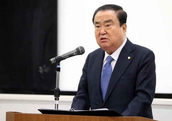韓国国会の文喜相議長が今月5日、東京の早稲田大学で特別講演を行っている。[写真 韓国国会]