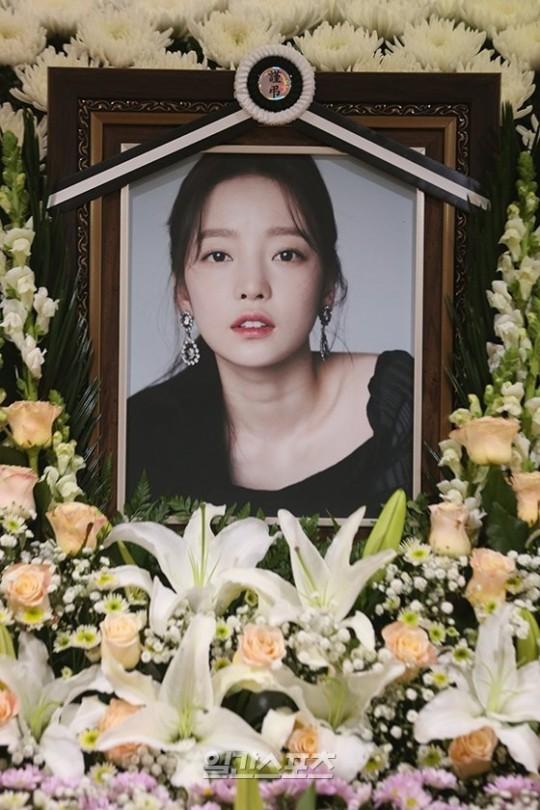 故ク・ハラさんの葬儀室が25日午後、ソウル・カトリック大学ソウル聖母病院葬儀場に用意された。パク・セワン記者