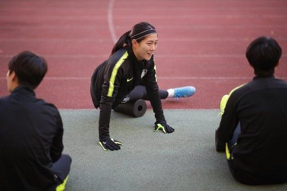 韓国代表のDFシム・ソヨン [大韓サッカー協会提供]
