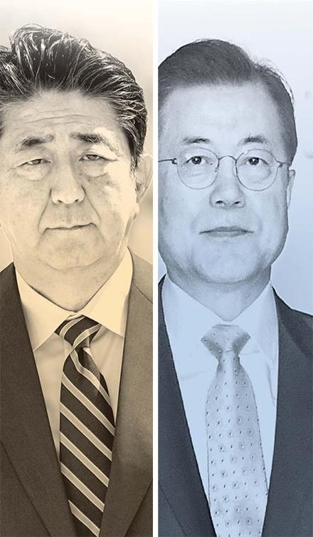 安倍晋三首相、文在寅大統領