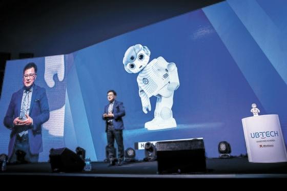 AI教育ロボットを開発する中国ユービーソフトの韓国進出行事が17日に開かれた。 チョン・ミンギュ記者