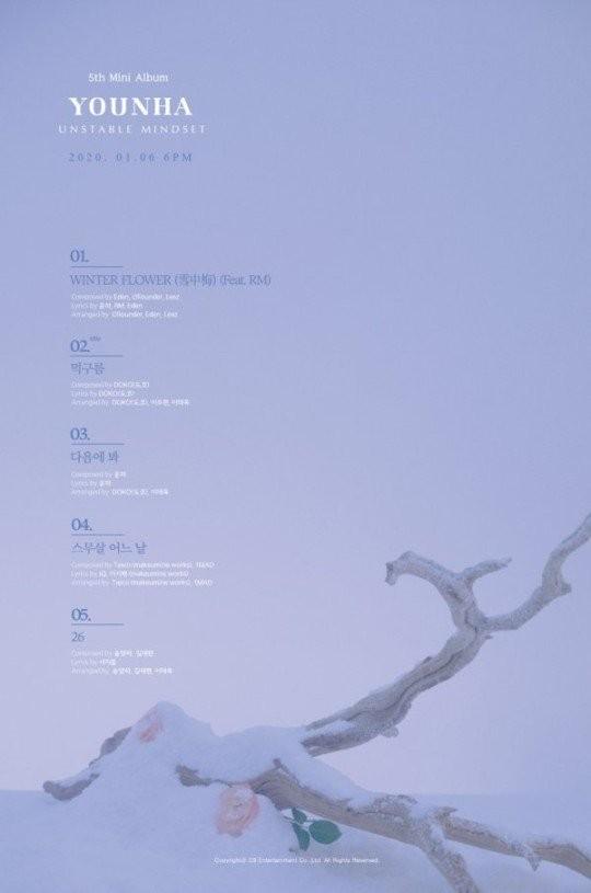 歌手ユンナの新ミニアルバム『UNSTABLE MINDSET』のトラックリスト