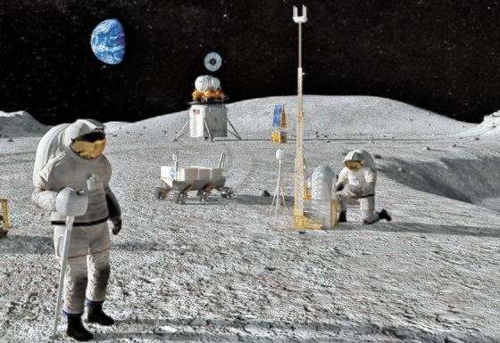 米国は2024年の宇宙飛行士2人を皮切りに、毎年有人月探査を実施するという「アルテミス計画」を昨年5月発表した。写真は米航空宇宙局(NASA)が提示した月探査のイメージ。[写真 NASA]