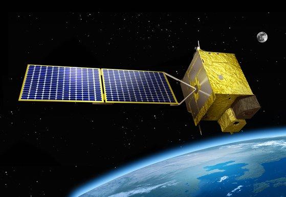 千里眼衛星2B号イメージ図。[写真 韓国海洋水産部]