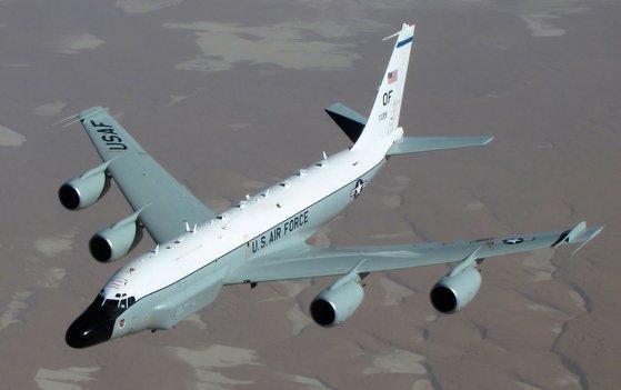 米軍偵察機リベットジョイント(RC-135W)[写真 米空軍]