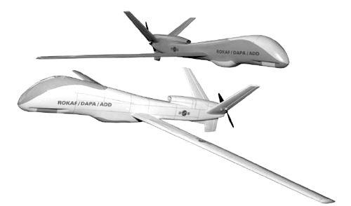 韓国が開発中の中高度無人偵察機(MUAV)のイメージ図。[写真 韓国国防科学研究所]