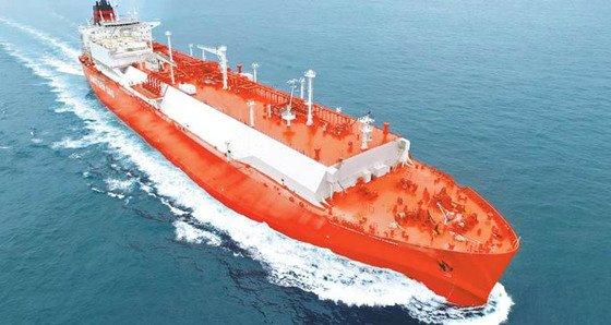 現代重工業が建造したLNG運搬船。[写真 現代重工業グループ]