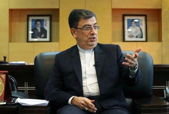 シャーベスタリー駐韓イラン大使が9日にソウルの在韓イラン大使館で中央日報とインタビューしている。キム・ソンリョン記者
