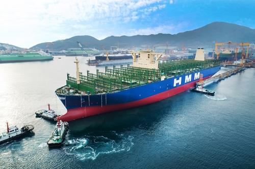 現代商船の2万4000TEU級コンテナ船[現代商船提供]