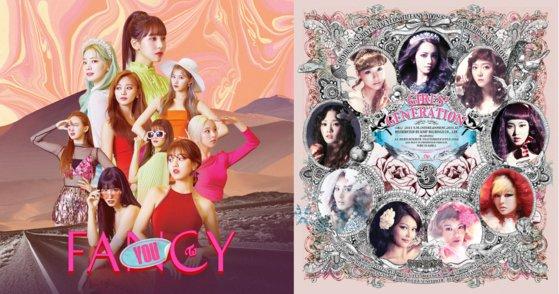 2019年に発売されたTWICE(トゥワイス)『FANCY YOU』と2011年発売された少女時代『The Boys』