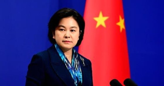 中国外交部の華春瑩報道官。[写真 中国外交部ウェブページ]