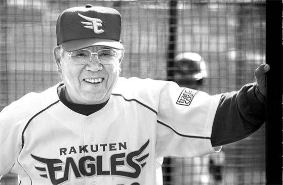 野村克也氏は74歳だった2009年まで楽天の監督を務めた。日本野球で最高齢監督だった。野村氏は最後の試合で敗れたが、選手たちに胴上げされた。[写真 楽天ゴールデンイーグルス]