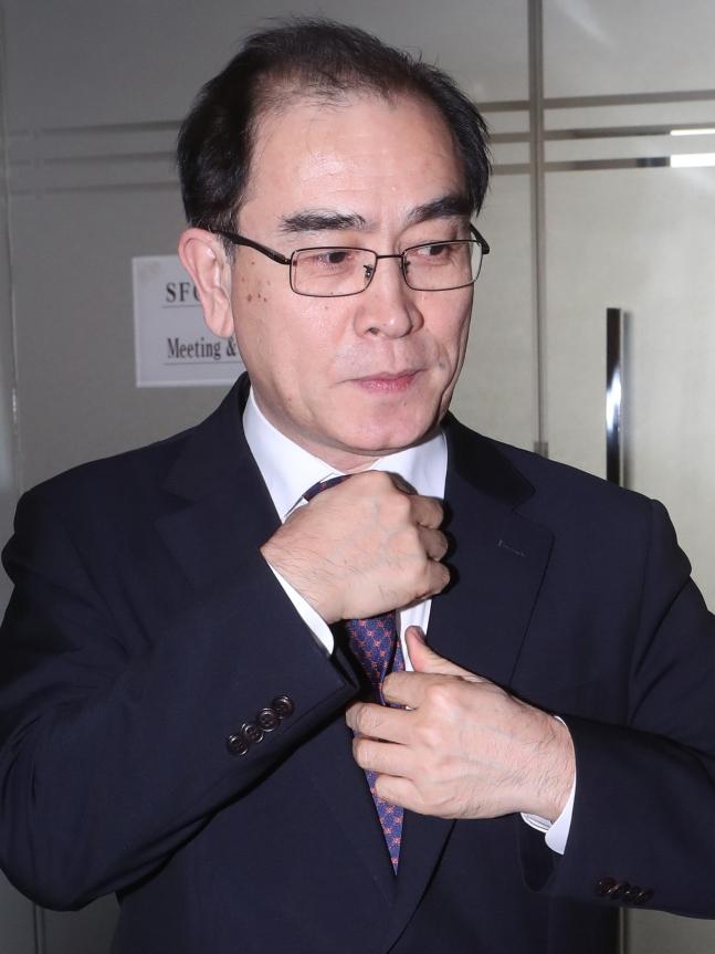 脱北者の太永浩(テ・ヨンホ)元駐英北朝鮮公使 チェ・チョンドン記者