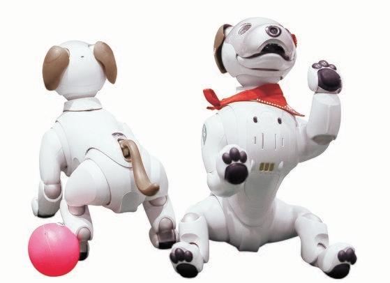 犬型ロボットのaibo(アイボ)。