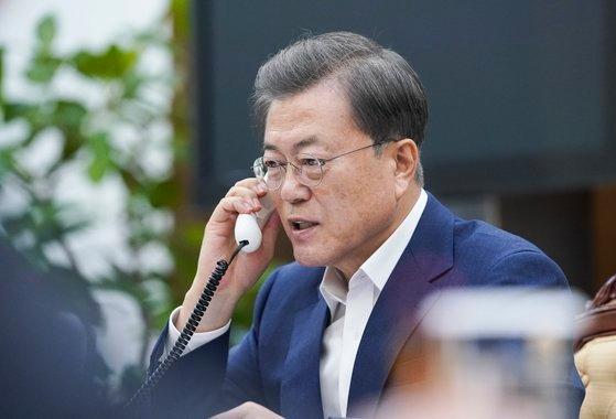韓国の文在寅(ムン・ジェイン)大統領。[写真 青瓦台]
