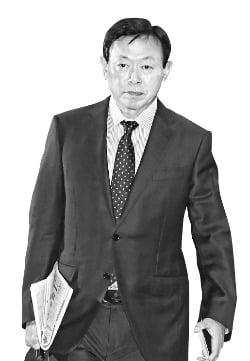 ロッテグループの辛東彬(シン・ドンビン、重光昭夫)会長