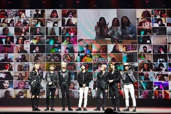 26日、世界で初めて試みたオンライン有料コンサート「SuperM-Beyond The Future」[写真 SMエンターテインメント]