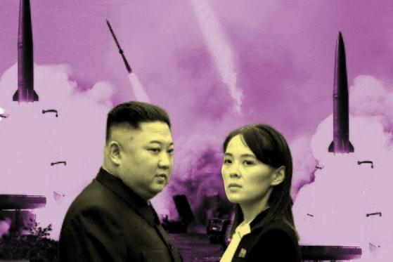 北朝鮮の金正恩(キム・ジョンウン)国務委員長(左)と妹の金与正(キム・ヨジョン)労働党第1副部長
