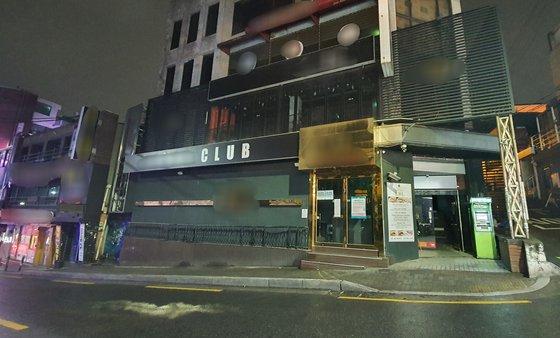 龍仁市(ヨンインシ)の66人目の感染者が訪問した梨泰院のあるクラブの外観。ピョン・グァンヒョン記者