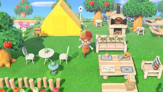 Nintendo Switchが3月20日に発売したゲーム「あつまれ どうぶつの森」の場面。[写真任天堂コリア]