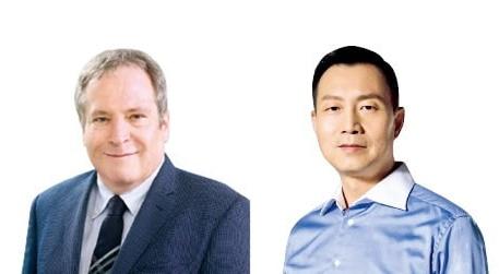 マーティン・ザイリンガー副社長(左)、リフンポン副社長