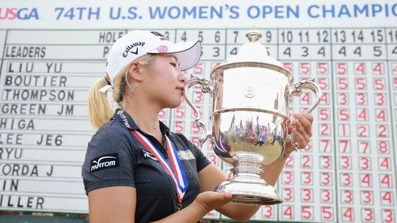 昨年の全米女子オープンで優勝したイ・ジョンウン6。[写真 JTBCゴルフ]