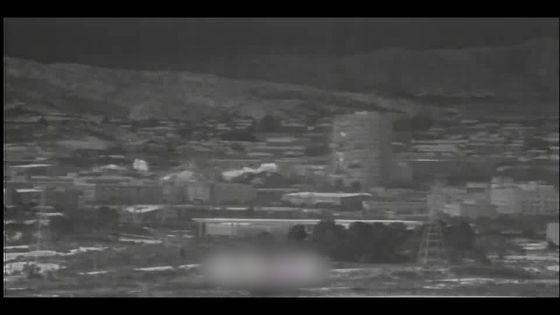 韓国軍当局のTODに捉えられた南北連絡事務所と総合支援センター爆破の瞬間の様子。 15階建ての総合支援センター上部でも爆薬の爆発と推定される熱が感知されるのが見える。[国防部TODキャプチャー]