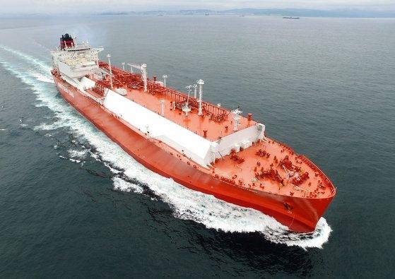 現代重工業が建造したLNG運搬船 [写真 現代重工業]
