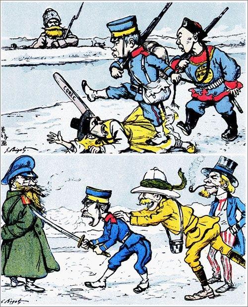 日清戦争に従軍したフランスの記者が1899年に仏パリで撮った絵葉書 [中央フォト]