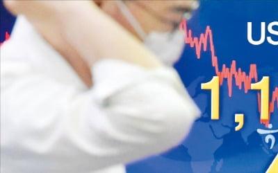 世界市場でドル安が傾向にあるが、6月から最近まで対ウォンのドル相場は1ドル=1190~1210ウォンのボックス相場で推移している。ソウルのハナ銀行ディーリングルームの電光掲示板前でスタッフが業務を行っている。キム・ヨンウ記者