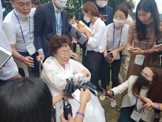 旧日本軍慰安婦被害者であり女性人権運動家の李容洙(イ・ヨンス)さん。 キム・ミヌク記者