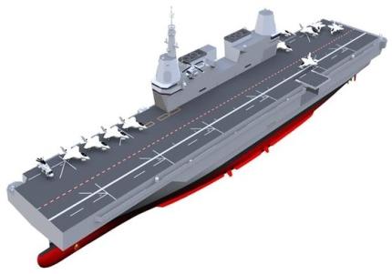 国防部が公開した軽空母予想図。[写真 国防部]