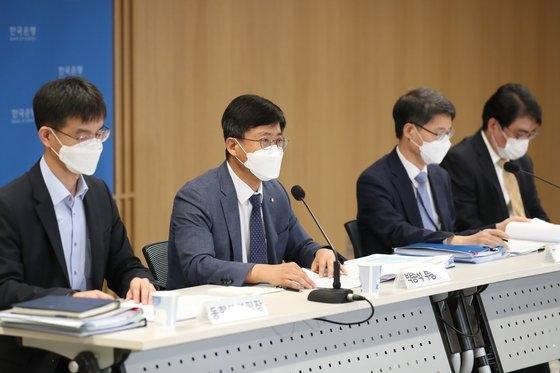 10日、ソウル中区(チュング)の韓国銀行で開かれた2020年9月通貨信用政策報告書説明会。[写真 韓国銀行]
