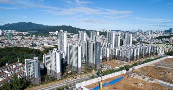9月入居予定のソウル江南区開浦洞(カンナムグ・ケポドン)のマンション。[写真 サムスン物産]