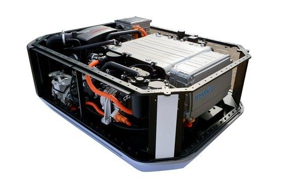 現代車が欧州に輸出した「ネクソ」の水素燃料電池システム。 [写真 現代車]